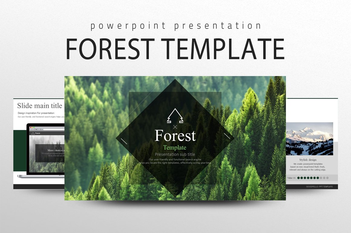 Forest template presentation templates creative market toneelgroepblik Gallery