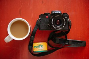 Film camera and coffee