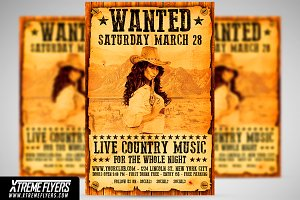 Country Wanted Flyer Template