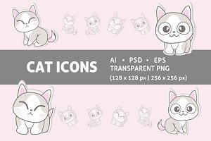 Cute Cats Icons