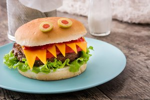 Halloween burger monsters ~ Holiday Photos on Creative Market