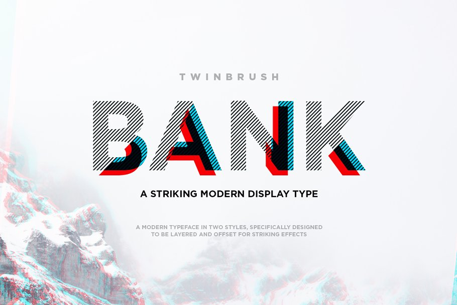 Bank typeface ~ Display Fonts ~ Creative Market