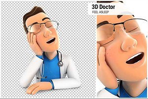 3D Doctor Fell Asleep