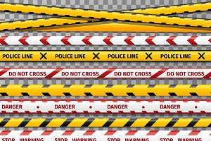 Danger caution tapes