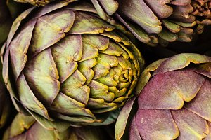 Fresh artichokes at the market