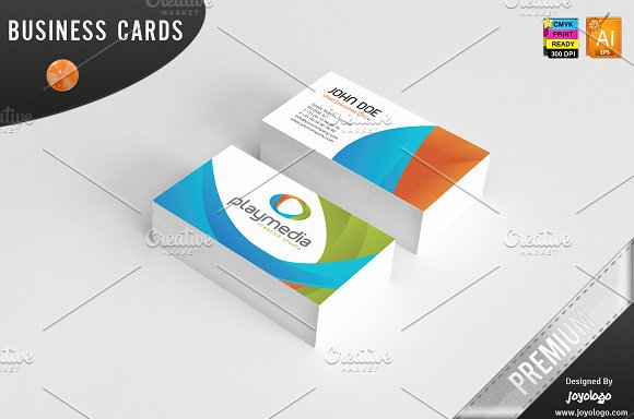 3d play media business cards business card templates creative market