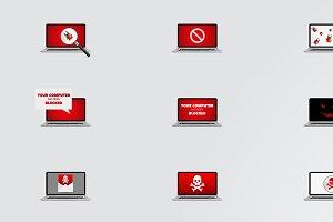 Ransomware, Virus, Malware Design