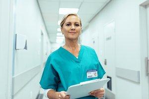 Portrait of mature female nurse