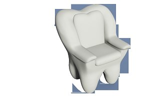 "The ""Tooth shaped armchair"""