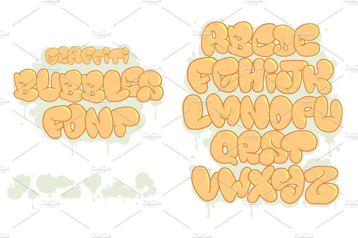 Graffiti bubbles font