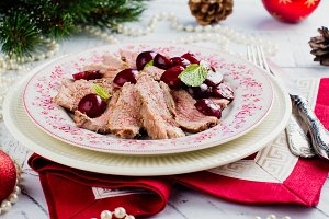 Christmas duck breast