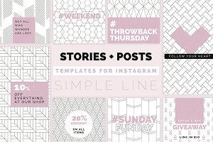 Simple Line Instagram Pack