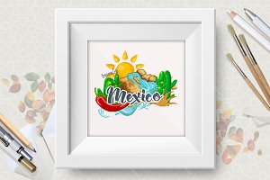 Mexico. Vector illustration