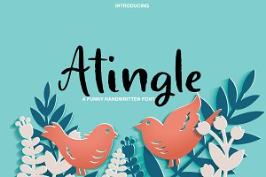 Atingle | Handwritten Font