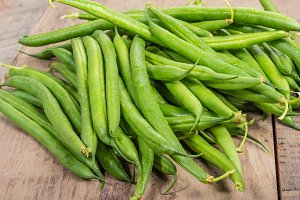 Group of fresh green beans