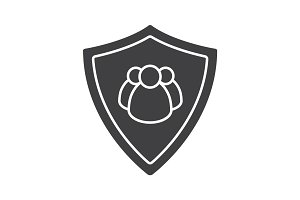 Users protection glyph icon