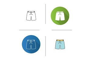 Swimming trunks icon