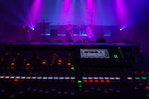 digital mixing console as a concert