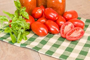 Basil tomatoes and sauce