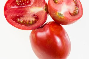 Paste tomatoes isolated on white
