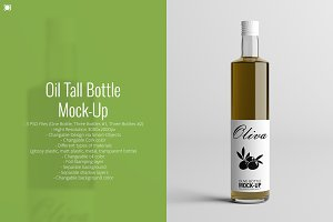 Oil Tall Bottle Mock-Up