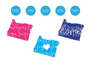 Oregon SVG Cut Files and Clipart