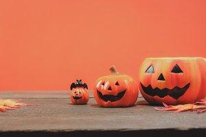 Pumpkin decoration Halloween.