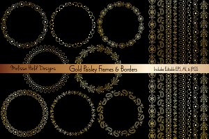 Gold Paisley Frames & Borders