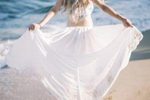 seaside woman portrait