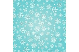 Snowflakes Doodles Seamless Pattern