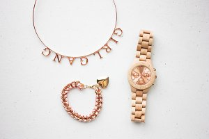 Rose Gold Girly Accessories