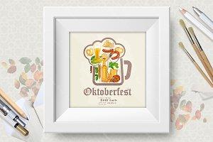 Beer vector poster