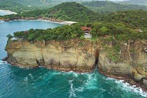 Villa on rock cliff