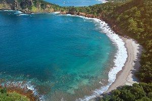 Blue sea bay in Nicaragua