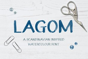 Lagom Watercolour Display Font