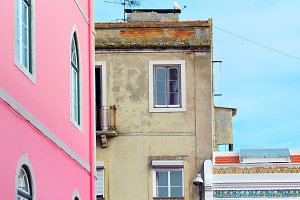 Lisbon colorful street, Portugal