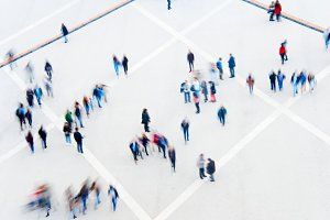 Crowd of people at square