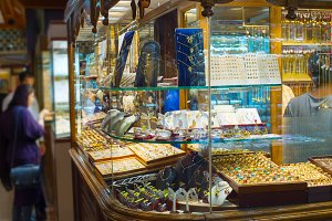 Jewelry shops at Tehran Grand Market