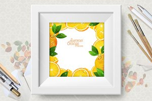 Citrus vector frame