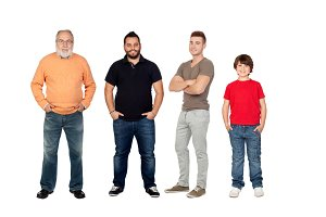 Four generations of men
