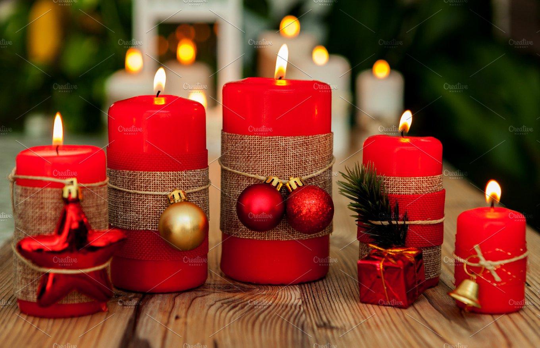 Christmas candles ~ Holiday Photos ~ Creative Market