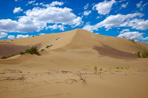 Hot sandy desert