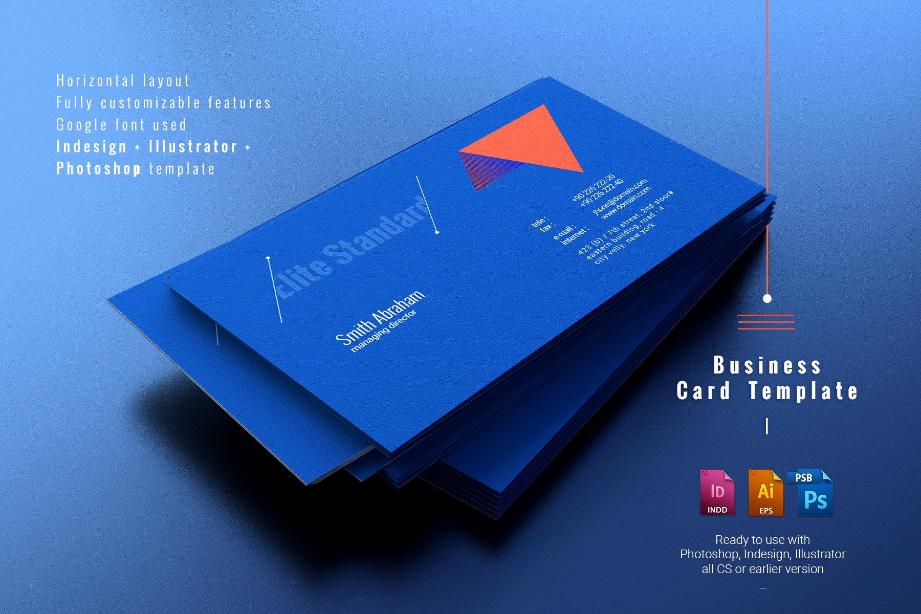 Elite Standard Business Card ~ Business Card Templates ~ Creative Market