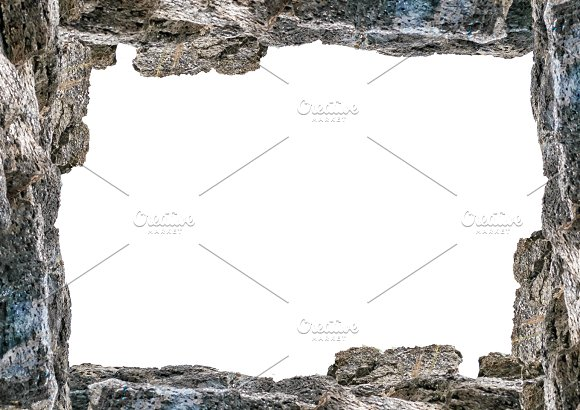 Blank Landscape Frame With Rock Borders ~ Illustrations ~ Creative ...