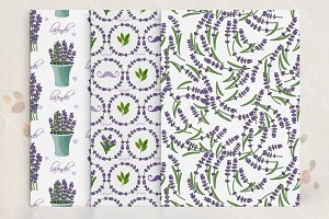 French seamless pattern in vector