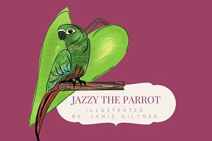 Jazzy The Parrot Illustration