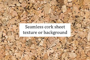 Seamless cork sheet