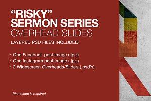 """Risky"" Sermon Series Graphics"