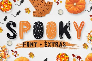 Spooky font + EXTRAS!