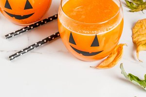 Pumpkin drink for Halloween party